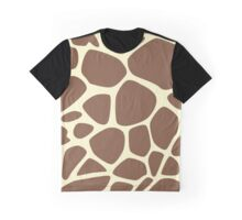 Animal Print (Giraffe Pattern) - Brown Yellow  Graphic T-Shirt