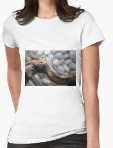 snake on the branch Womens Fitted T-Shirt