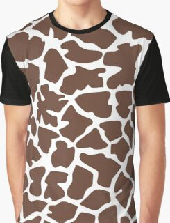 Animal Print (Giraffe Pattern) - Brown White  Graphic T-Shirt