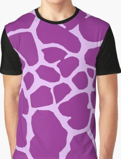 Animal Print (Giraffe Pattern) - Purple  Graphic T-Shirt