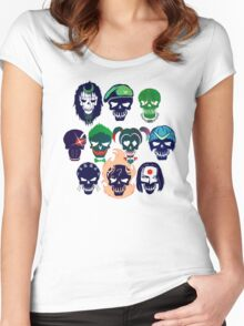 Skulls of The Squad Women's Fitted Scoop T-Shirt