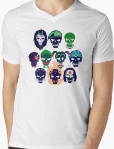 Skulls of The Squad Mens V-Neck T-Shirt