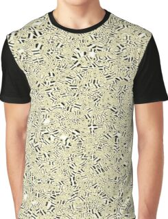 Cell Pattern Black Crystals Graphic T-Shirt