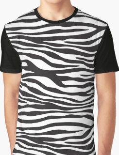 Animal Print, Zebra Stripes - Black White Graphic T-Shirt