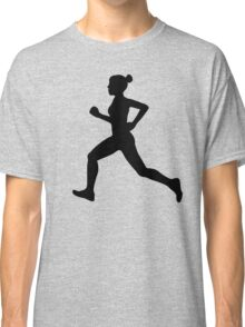 Running Girl B&W Pattern Classic T-Shirt