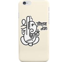 Ganesh Ganesa Ganapati 5 (black white) iPhone Case/Skin