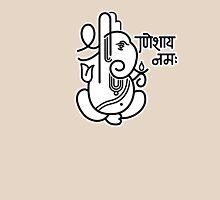 Ganesh Ganesa Ganapati 5 (black white) Unisex T-Shirt