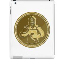 Kendo Swordsman Gold Medal Retro iPad Case/Skin