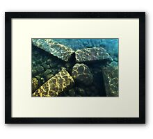 stones under water Framed Print