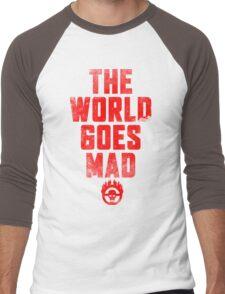 The world goes Mad ! Men's Baseball ¾ T-Shirt