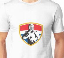 Kendo Swordsman Crest Retro Unisex T-Shirt