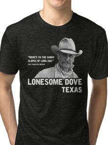 The Sunny Slopes of Long Ago - Lonesome Dove Tri-blend T-Shirt