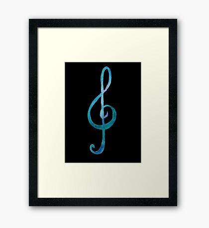 Treble-clef Framed Print