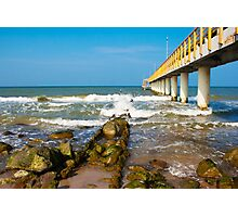pier stretching into the sea Photographic Print