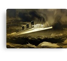 An old style digital painting of RMS Queen Mary Canvas Print