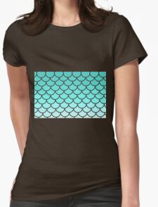 Light Sea Green Soothing Waves Womens Fitted T-Shirt