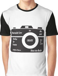 Camera Design Graphic T-Shirt