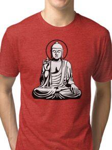 Young Buddha (black white) Tri-blend T-Shirt