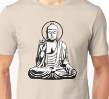 Young Buddha (black white) Unisex T-Shirt
