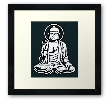 Young Buddha (white) Framed Print