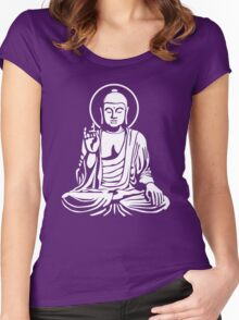 Young Buddha (white) Women's Fitted Scoop T-Shirt