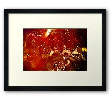 Oil on Water (Maroon) Framed Print
