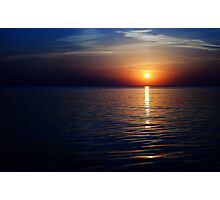 sunset on the sea Photographic Print