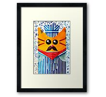 Cat Engine Driver 	 Framed Print