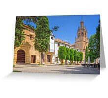 Plaza Duquesa de Parcent - Ronda - Andalucia - Spain Greeting Card