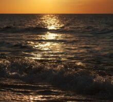 sunset at the sea on autumn Sticker