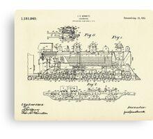 Locomotive-1915 Canvas Print