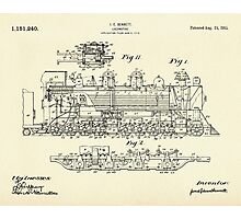Locomotive-1915 Photographic Print