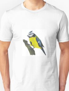 Eurasian Blue Tit Bird Unisex T-Shirt