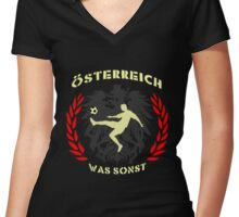 Fussball T-Shirts / Österreich 2  Women's Fitted V-Neck T-Shirt