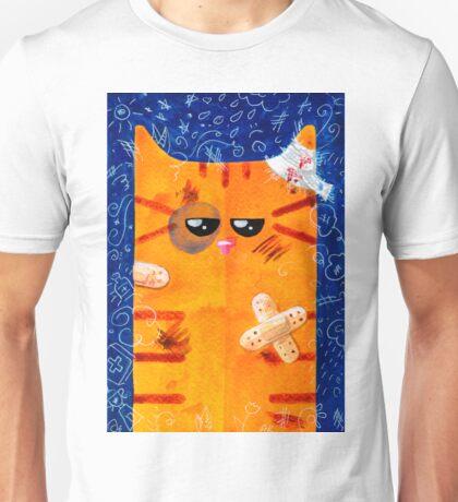Battered Cat Unisex T-Shirt