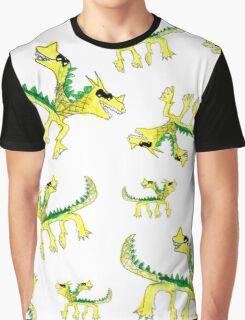 Watercolor children dragons pattern Graphic T-Shirt