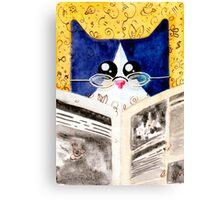 Smart Cat Canvas Print