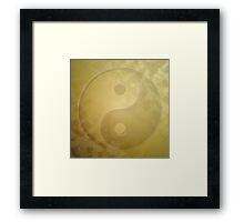Yin and yang with gold dust Framed Print