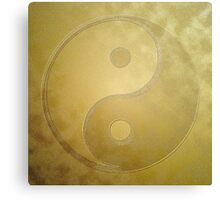 Yin and yang with gold dust Canvas Print