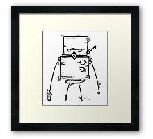 DUD the robot - white BG Framed Print