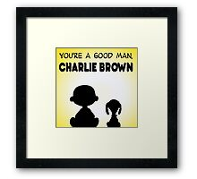 CHARLIE BROWN GOOD MAN PEANUTS Framed Print