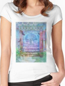 Rumi Inspirational LIGHT quote Women's Fitted Scoop T-Shirt
