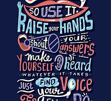 Use your voice by Risa Rodil