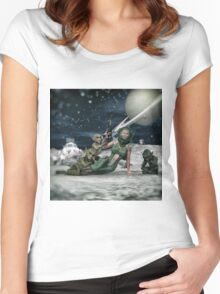 Vintage Sci-Fi Women's Fitted Scoop T-Shirt