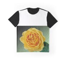 Yellow Rose on Green Gradient Graphic T-Shirt