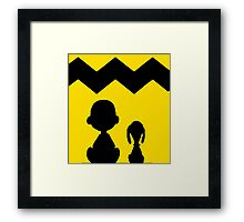 CHARLIE BROWN PEANUTS YELLOW Framed Print
