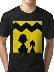 CHARLIE BROWN PEANUTS YELLOW Tri-blend T-Shirt