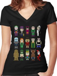 8-Bit Super Heroes: ROGUES! Women's Fitted V-Neck T-Shirt