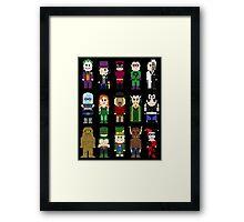 8-Bit Super Heroes: ROGUES! Framed Print