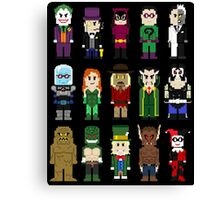 8-Bit Super Heroes: ROGUES! Canvas Print